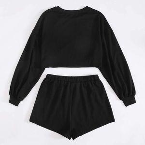Black long sleeve set
